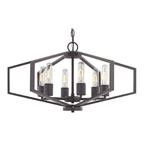 Dolan Designs Lighting Hexagon 6-Light Chandelier- Bronze Finish 1145-78