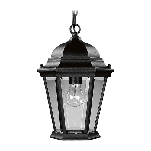 Progress Lighting Progress Outdoor Hanging Light with Clear Glass in Black Finish P5582-31
