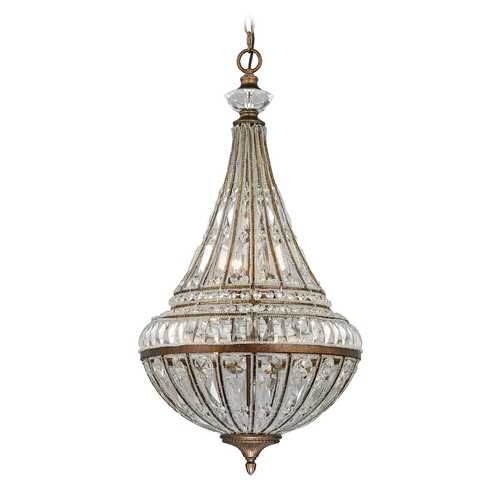 Elk Lighting Crystal Pendant Light in Mocha Finish 46047/6