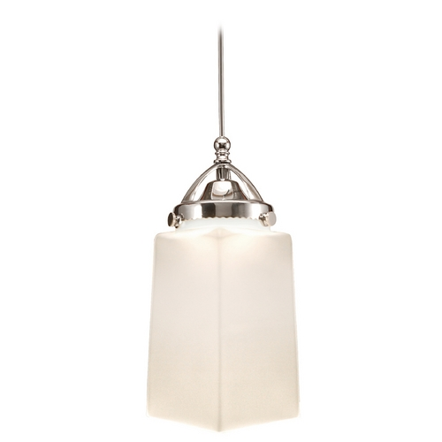 WAC Lighting Wac Lighting Early Electric Collection Chrome LED Mini-Pendant with Rectangle Shade MP-LED498-WT/CH