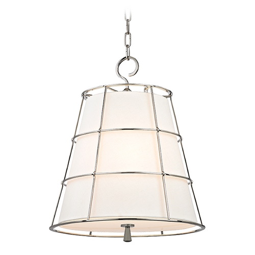 Hudson Valley Lighting Hudson Valley Lighting Savona Polished Nickel Pendant Light with Empire Shade 9818-PN