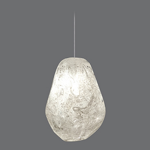 Fine Art Lamps Fine Art Lamps Natural Inspirations Gold-Toned Silver Leaf Mini-Pendant Light 852240-25ST