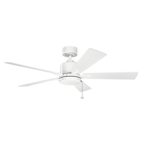 Kichler Lighting Kichler Lighting Bowen Matte White Ceiling Fan Without Light 330242MWH