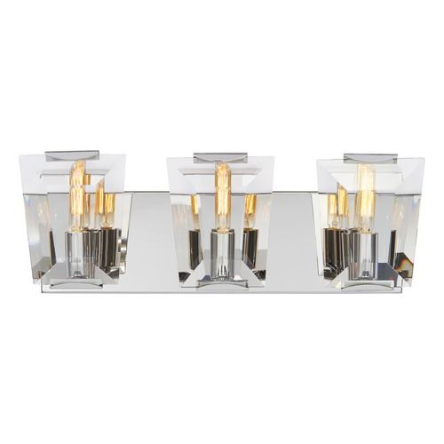 Metropolitan Lighting Metropolitan Castle Aurora Polished Nickel Bathroom Light N2983-613