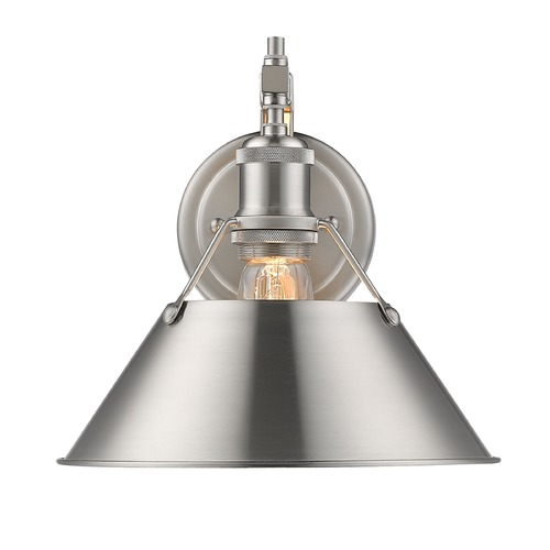 Golden Lighting Golden Lighting Orwell Pw Pewter Sconce 3306-1W PW-PW