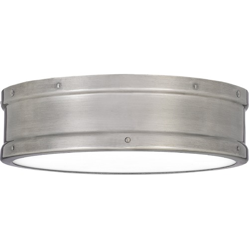 Quoizel Lighting Quoizel Lighting Ahoy Antique Polished Nickel LED Flushmount Light QF5224AP