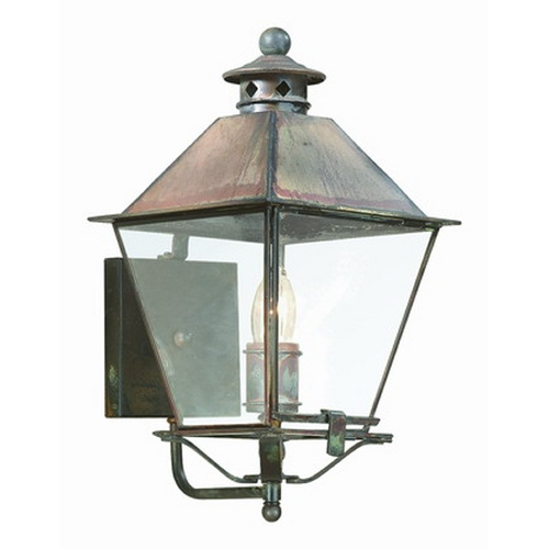 Troy Lighting Outdoor Wall Light with Clear Glass in Charred Iron Finish B9131CI