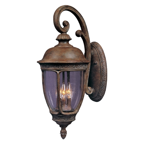Maxim Lighting Outdoor Wall Light with Clear Glass in Sienna Finish 40466CDSE