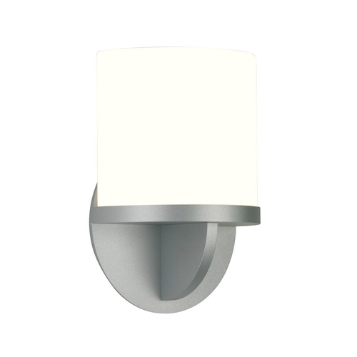 Sonneman Lighting Modern Sconce Wall Light with White Glass in Satin Silver Finish 1720.04F