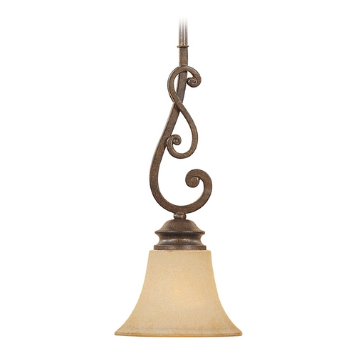 Designers Fountain Lighting Mini-Pendant Light with Amber Glass 81830-FSN