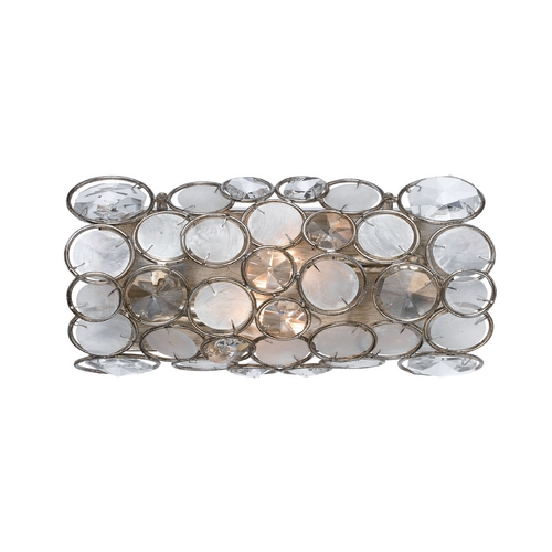 Crystorama Lighting Crystal Sconce Wall Light with Clear Glass in Antique Sliver Finish 522-SA