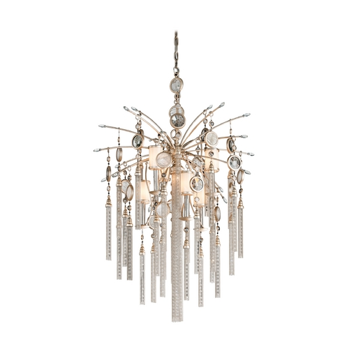 Corbett Lighting Corbett Lighting Bliss Topaz Leaf Island Light with Cylindrical Shade 162-47