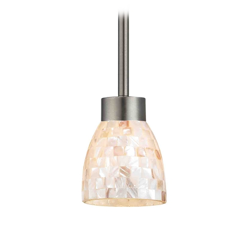 Design Classics Lighting Mini-Pendant Light with Beige / Cream Glass 1123-1-09 GL1026MB