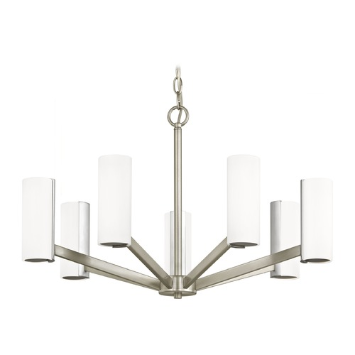 Dolan Designs Lighting Modern LED Chandelier with 7 Lights Satin Nickel Finish 1290-09