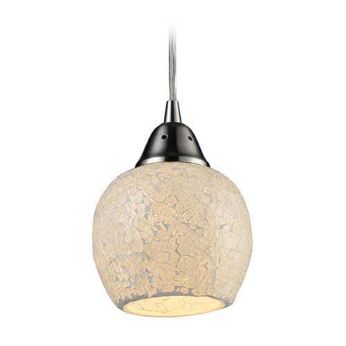 Elk Lighting Elk Lighting Fission Satin Nickel LED Mini-Pendant Light with Bowl / Dome Shade 10208/1CLD-LED