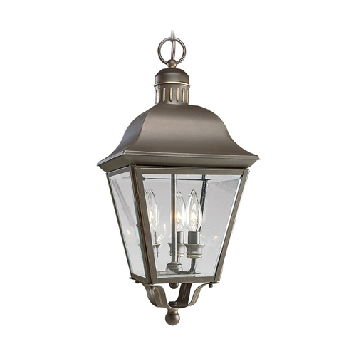 Progress Lighting Progress Outdoor Hanging Light with Clear Glass in Bronze Finish P5587-20