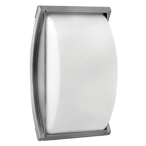 Hinkley Lighting Modern Outdoor Wall Light with White Glass in Titanium Finish 1650TT
