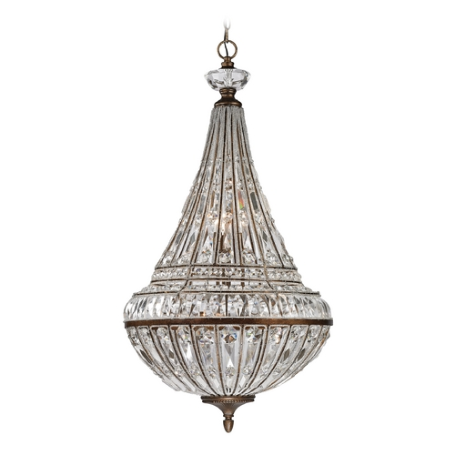 Elk Lighting Crystal Pendant Light in Mocha Finish 46048/6+3