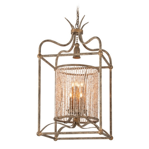 Troy Lighting Troy Lighting Madame Bardot Parisian Bronze with Gold Leaf and Wood Accents Pendant Light F4048