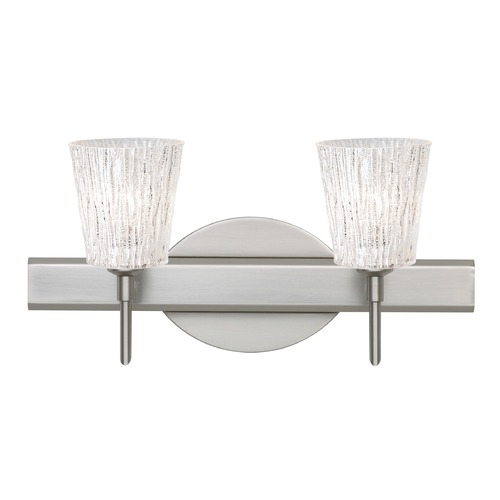 Besa Lighting Besa Lighting Nico Satin Nickel Bathroom Light 2SW-5125GL-SN