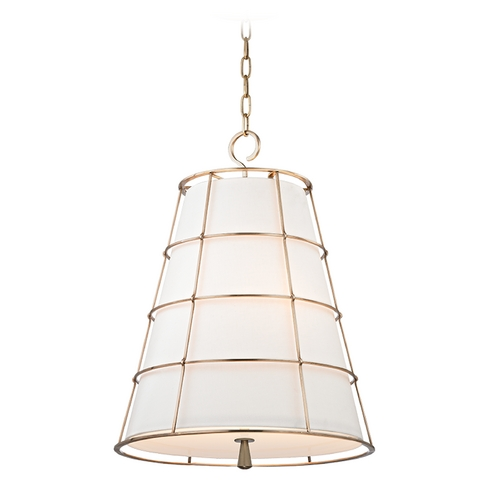 Hudson Valley Lighting Hudson Valley Lighting Savona Aged Brass Pendant Light with Empire Shade 9820-AGB