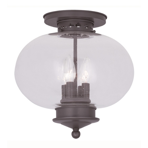 Livex Lighting Livex Lighting Harbor Bronze Close To Ceiling Light 5038-07