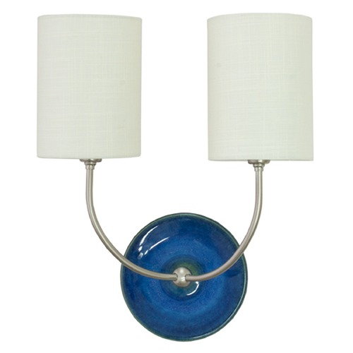House of Troy Lighting House of Troy Scatchard Blue Gloss Wall Lamp GS775-2-SNBG