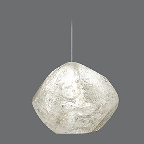 Fine Art Lamps Fine Art Lamps Natural Inspirations Gold-Toned Silver Leaf Mini-Pendant Light 852240-26ST