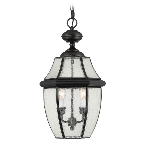 Quoizel Lighting Quoizel Newbury Mystic Black Outdoor Hanging Light NY1909K