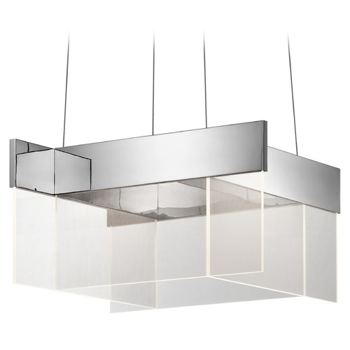 Elan Lighting Elan Lighting Geo Chrome LED Pendant Light 83734