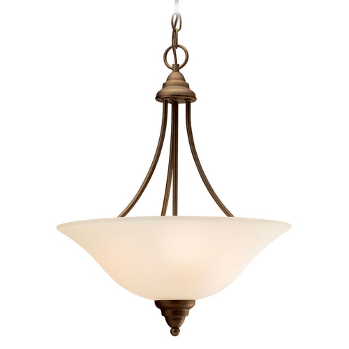 Kichler Lighting Kichler Pendant Light with Beige / Cream Shades in Olde Bronze Finish 3277OZ