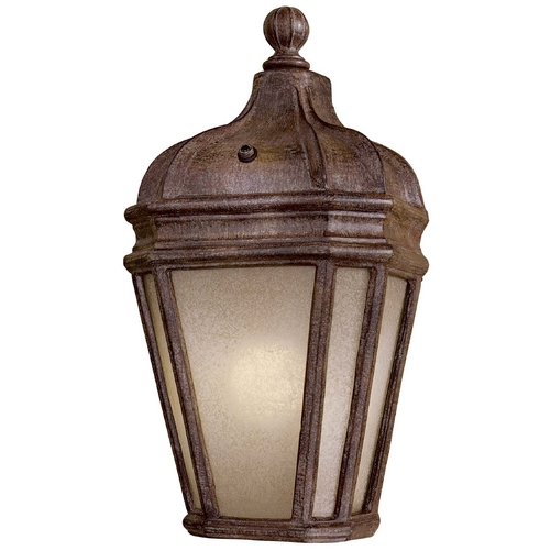 Minka Lavery Outdoor Wall Light with Beige / Cream Glass in Vintage Rust Finish 8698-1-61-PL