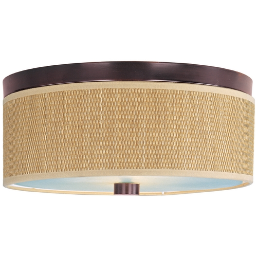 ET2 Lighting Modern Flushmount Light with Brown Tones Shades in Oil Rubbed Bronze Finish E95102-101OI
