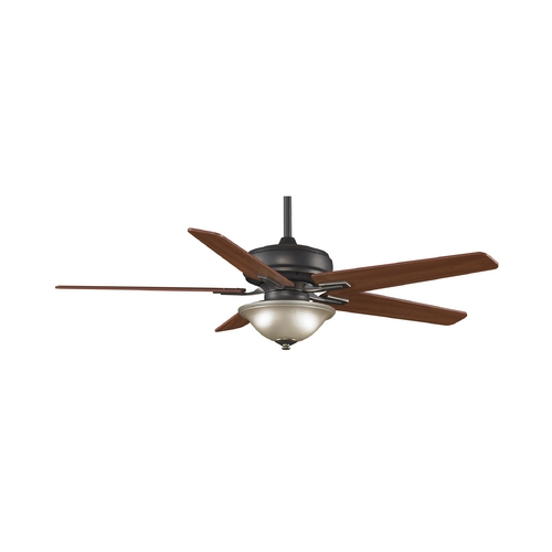 Fanimation Fans Ceiling Fan with Light with White Glass in Bronze Accent Finish FPD8088BA