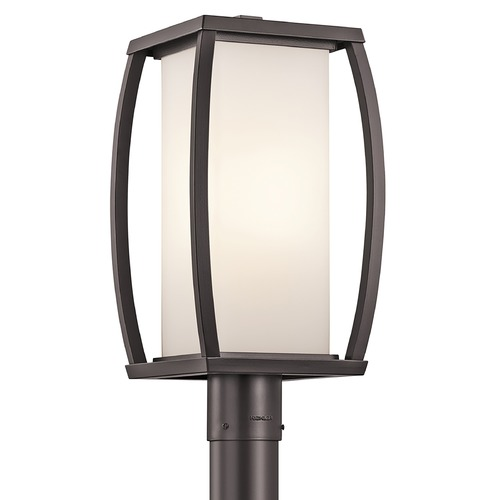 Outdoor Lighting Requirements: Kichler Post Light With White Glass In Architectural