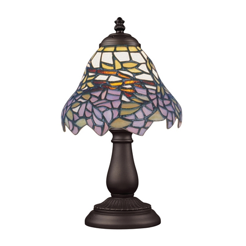 Elk Lighting Table Lamp with Tiffany Glass in Bronze Finish 080-TB-28