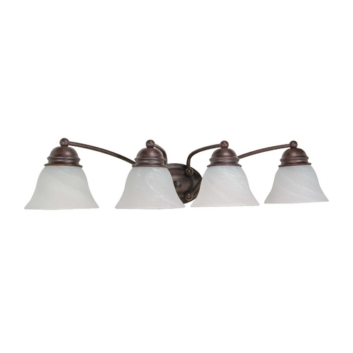 Nuvo Lighting Bathroom Light with Alabaster Glass in Old Bronze Finish 60/347