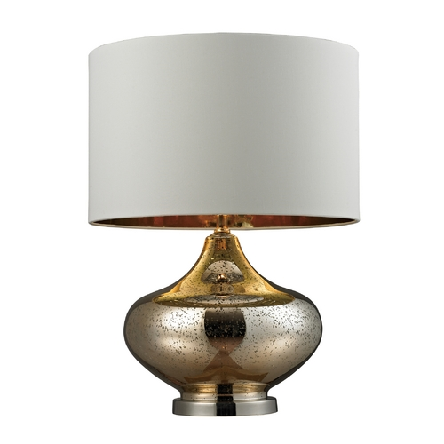 Dimond Lighting Mercury Glass Table Lamp in with Antique Gold and Drum Shade D269
