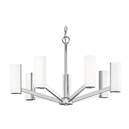 Dolan Designs Lighting Modern LED Chandelier with 7 Lights Chrome Finish 1290-26