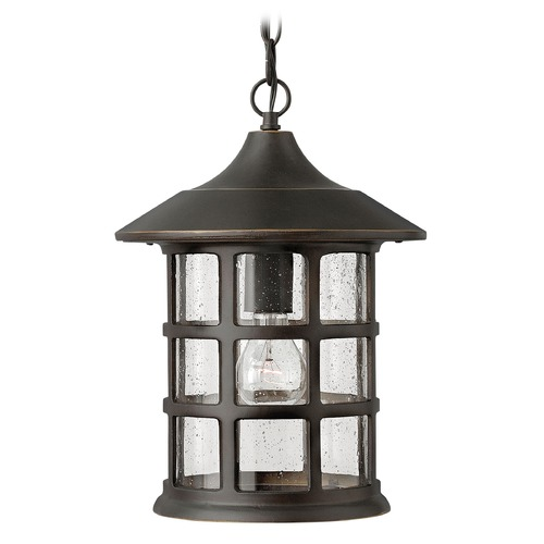 Hinkley Lighting Outdoor Hanging Light with Clear Glass in Oil Rubbed Bronze Finish 1802OZ