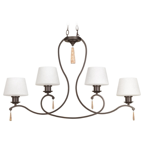 Progress Lighting Progress Lighting Club Antique Bronze Island Light with Empire Shade P4552-20