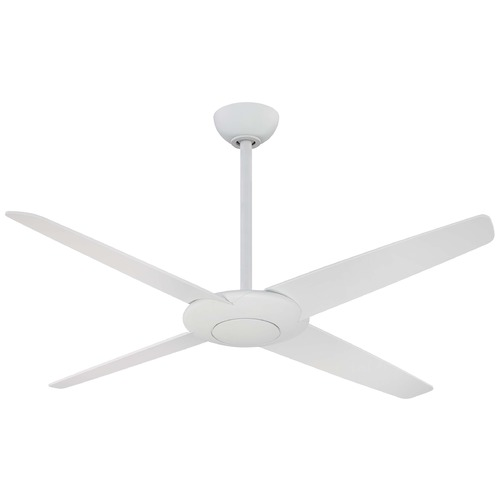 Minka Aire 52-Inch Minka Aire Fans Pancake Flat White Ceiling Fan Without Light F738-WHF