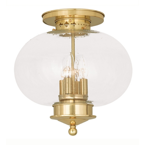 Livex Lighting Livex Lighting Harbor Polished Brass Close To Ceiling Light 5038-02