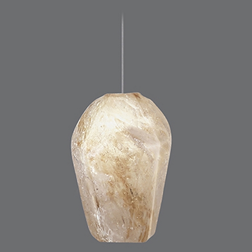 Fine Art Lamps Fine Art Lamps Natural Inspirations Gold-Toned Silver Leaf Mini-Pendant Light 852240-27ST
