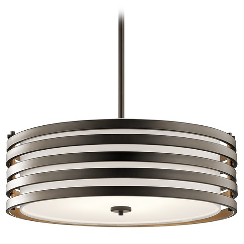 Kichler Lighting Kichler Lighting Roswell Pendant Light with Drum Shade 43390OZ