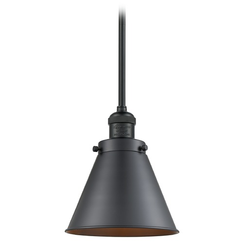 Innovations Lighting Innovations Lighting Appalachian Matte Black Mini-Pendant Light with Conical Shade 201S-BK-M13-BK