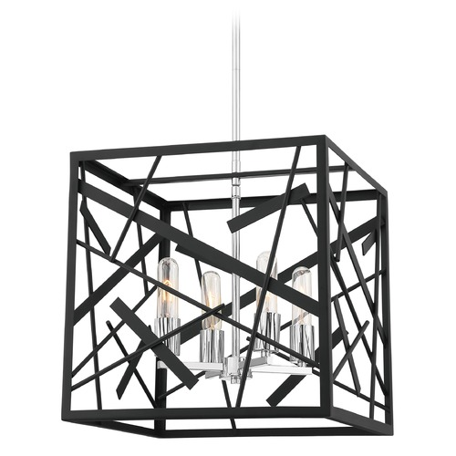 Quoizel Lighting Quoizel Lighting Pollock Matte Black Pendant Light with Square Shade QF5225MBK
