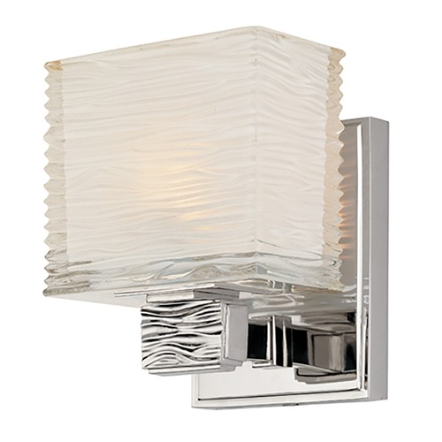 Hudson Valley Lighting Modern Sconce with White Glass in Polished Nickel Finish 4661-PN