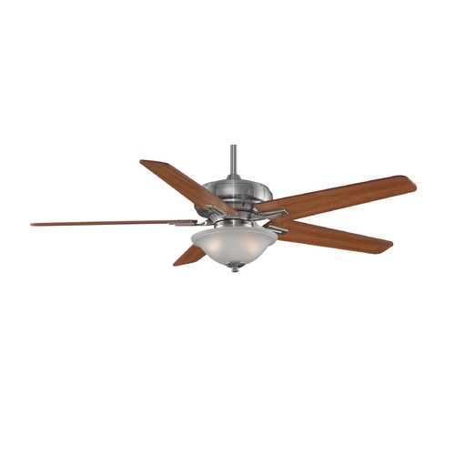 Fanimation Fans Ceiling Fan with Light with White Glass in Pewter Finish FPD8088PW