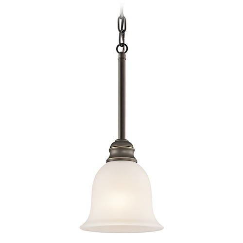 Kichler Lighting Kichler Mini-Pendant Light with White Glass 42901OZ
